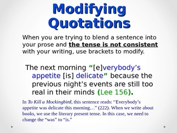 Effectively Write and Incorporate Quotes Into Presentations and Essays