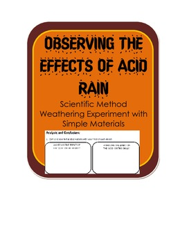 Effects of Acid Rain on pennies & chalk Experiment/Activity-Science Inquiry