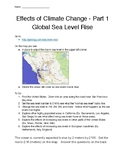 Effects of Climate Change Worksheets (6 Total) for Stations