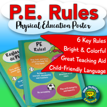 PE Rules Physical Education Poster