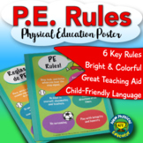 PE Rules Dual Language Physical Education Poster