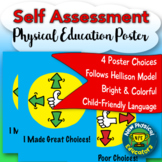"Student ""Touchable"" Self Assessment Health and Physical Education Poster"
