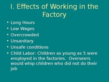 Effects of Industrialization Powerpoint