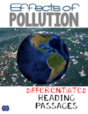 Effects of Pollution Differentiated Reading Passages & Questions