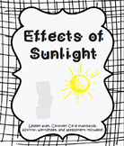 Effects of Sunlight Lesson Plan & Worksheet
