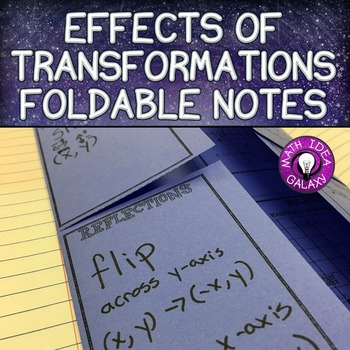 Effects of Transformations Foldable Notes
