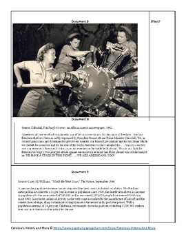Effects of WWII on American Homefront Lesson Plan with Primary Sources