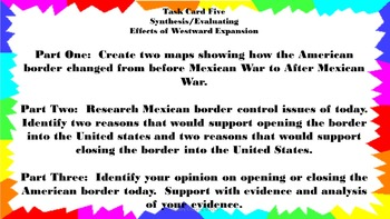 Effects of Westward Expansion Task Cards