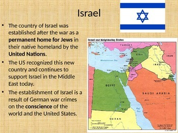 Effects of World War II: Holocaust, Nuremberg Trials, Israel  SC 7.4