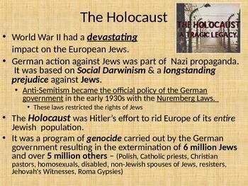 Effects of World War II: Holocaust, Nuremberg Trials, Isra