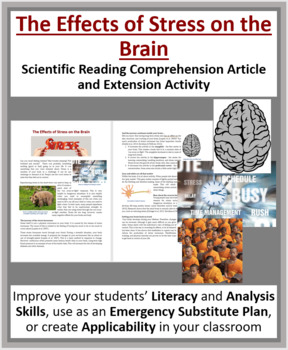 Effects of stress on the brain - Science Reading Article - Grades 5-7