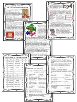 Effects of the American Revolution Reading Comprehension Worksheets