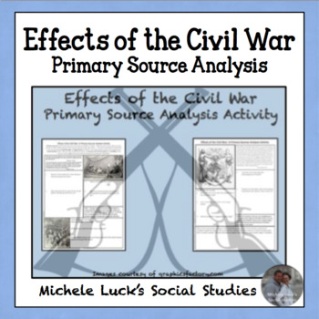 Effects of the Civil War Primary Source Analysis Activity CCSS Handout Homework