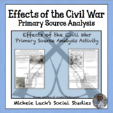 Effects of the Civil War Primary Source Analysis Activity