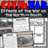 Effects of the Civil War on the North and the South Lesson and  Notes SS4H5e