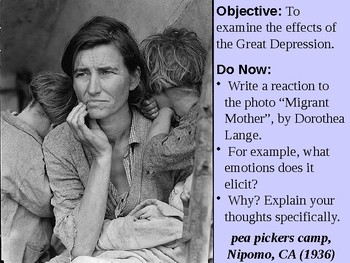 Effects of the Great Depression PowerPoint Presentation