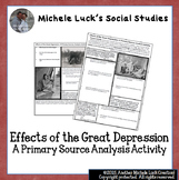 Effects of the Great Depression Primary Source Analysis Ho