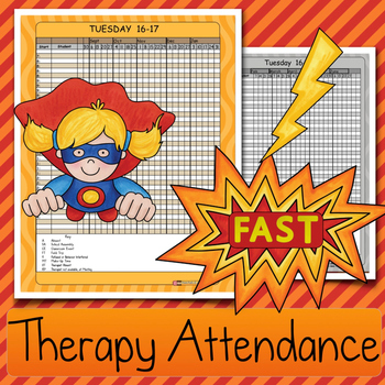 Efficient Therapy ATTENDANCE: Speech & Language, Occupatio
