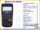 Efficient use of a scientific calculator