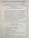 Effort & Achievement Rubric (2 Rubrics)