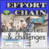 SEL Character Education- Effort Chain: Daily Quotes & Challenges