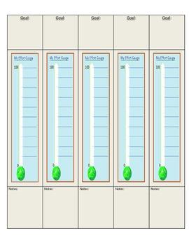 Effort Gauge - Tracking Progress towards Goals (Portrait Orientation)
