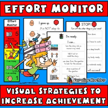 Effort Monitor Visual: Work Motivation Strategies (autism, aspergers, ADHD)