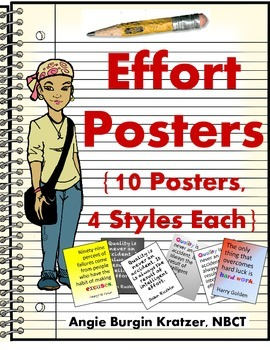 Effort Posters {10 Posters, 4 Styles Each}