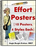 Effort Posters {10 Posters, 4 Styles Each}