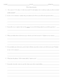 Effort Questionnaire