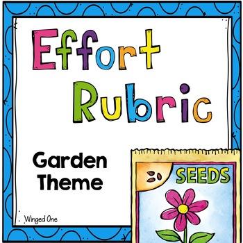 Effort Rubric Garden Theme