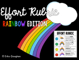 Effort Rubric - Rainbow Edition