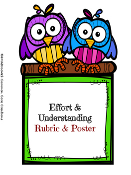 Effort and Understanding Rubric
