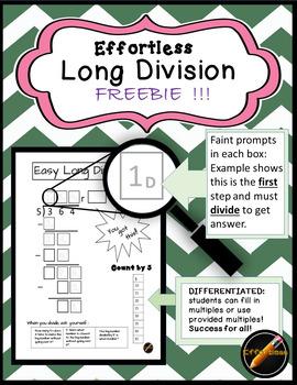 Effortless Long Division Freebie