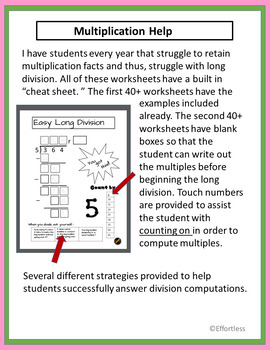 Long Division: Easy with Prompts