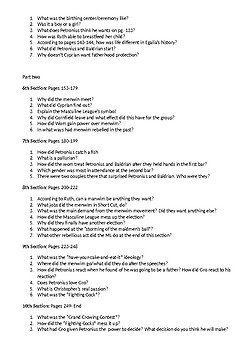 Egalia's Daughters Reading Questions and Activities