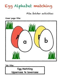 Egg Alphabet Matching Folder Game_Uppercase to Lowercase