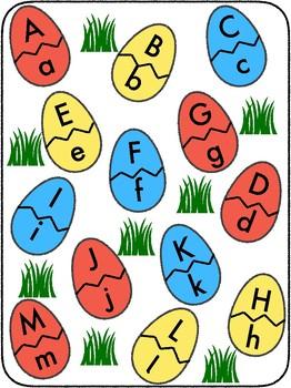 Egg Alphabet Matching Folder Games