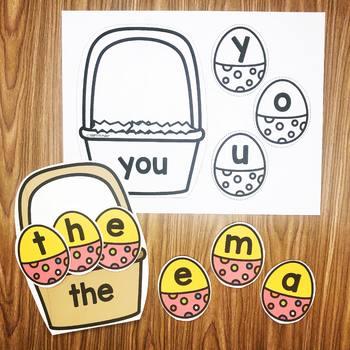Egg Basket Sight Words