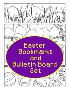 Egg Bookmarks, Bulletin Board Set, Easter, Basket Printable Coloring Page
