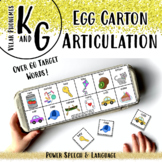 Egg Carton Artic, Speech Therapy Activities, Affricates, K and G Articulation