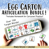 Egg Carton Articulation BUNDLE, Speech Therapy, Articulation Activities, Games