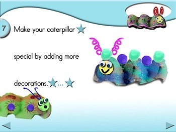 Egg Carton Caterpillars - Animated Step-by-Step Craft
