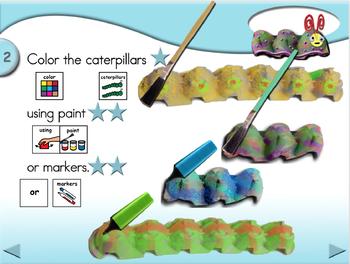 Egg Carton Caterpillars - Animated Step-by-Step Craft PCS