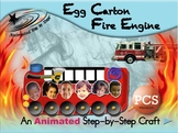 Egg Carton Fire Engine - Animated Step-by-Step Craft - PCS