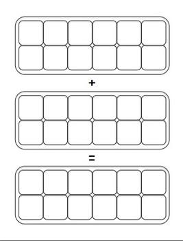 Egg Carton Fraction Addition Task Cards