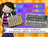 Egg Carton Math Games: Hand-on Math Center Freebie