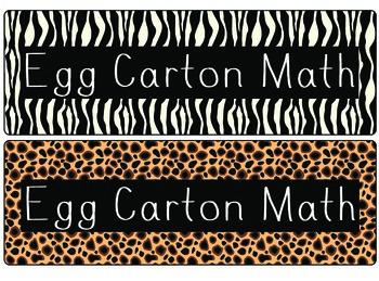 Egg Carton Math Labels