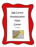 Egg Carton Multiplication Math Center