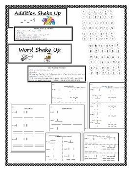 Egg Carton Shake Up Games - Labels, Directions, & Recording Sheets Print & Play